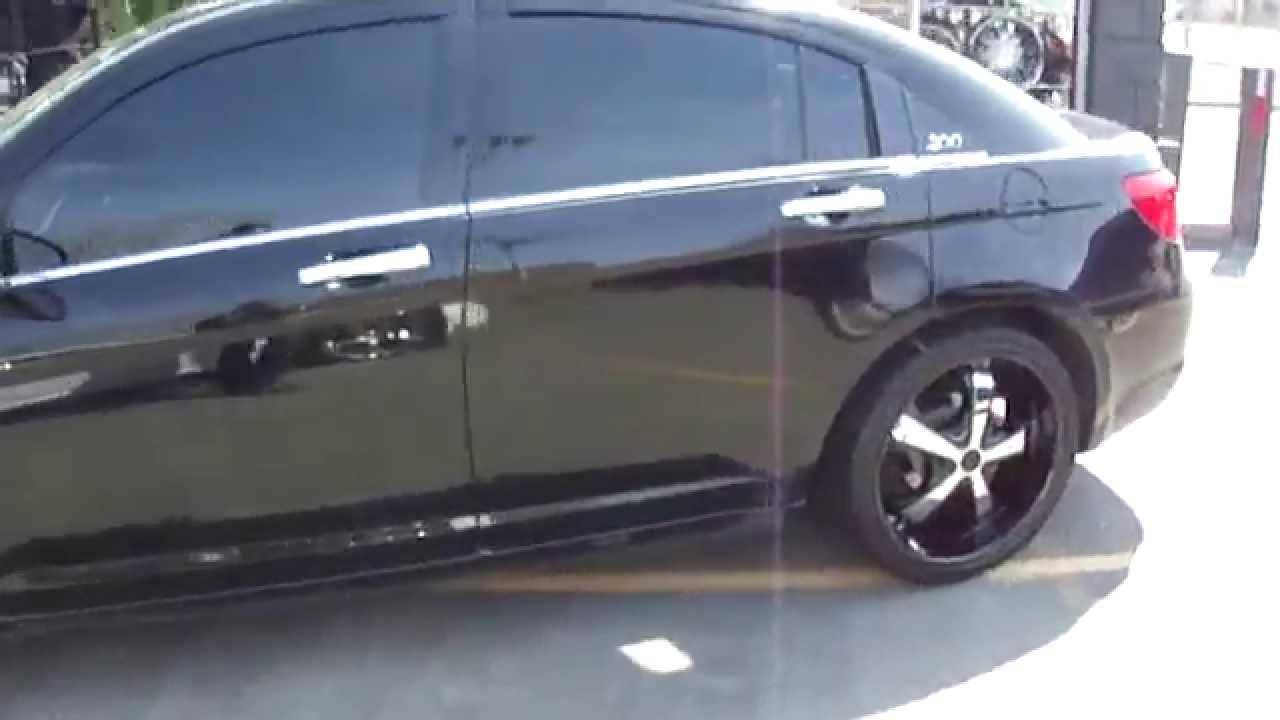 2012 Chrysler 200 Rims >> HILLYARD CUSROM RIM&TIRE 2012 CHRYSLER 200 RIDING ON 2O INCH CUSTOM WHEELS - YouTube
