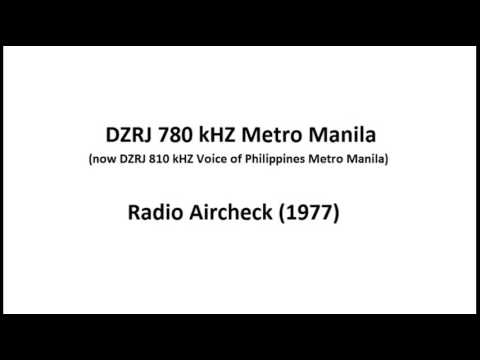 DZRJ 780 kHZ (now 810 kHZ) Metro Manila Aircheck (1977) Part 2