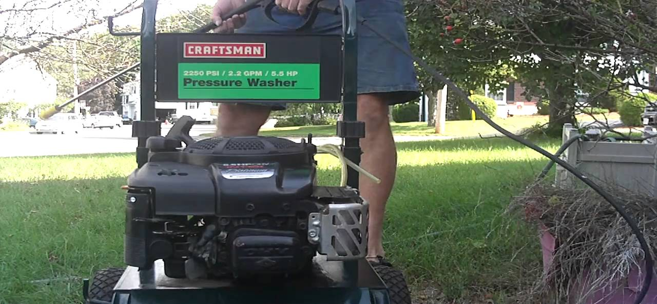 Craftsman 5 5hp Pressure Washer Starts Right Up And Runs