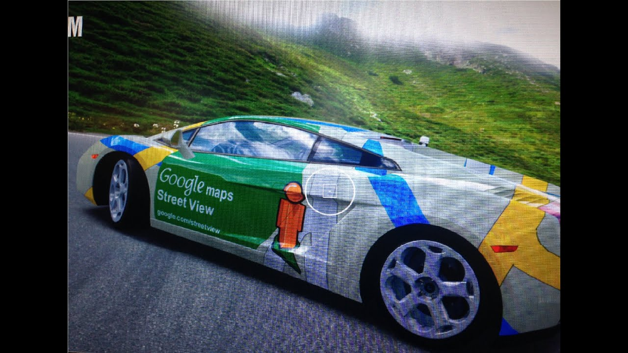 Google Street View Car Lamborghini Gallardo Drifting