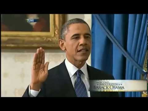 Obama Sworn In Oath - Second Term in Office