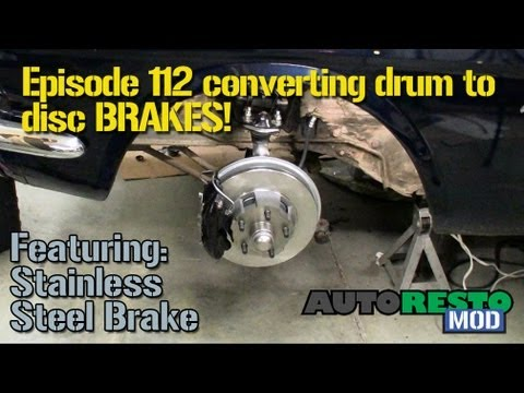 Episode 112 Drum To Disc Conversion Autorestomod Youtube