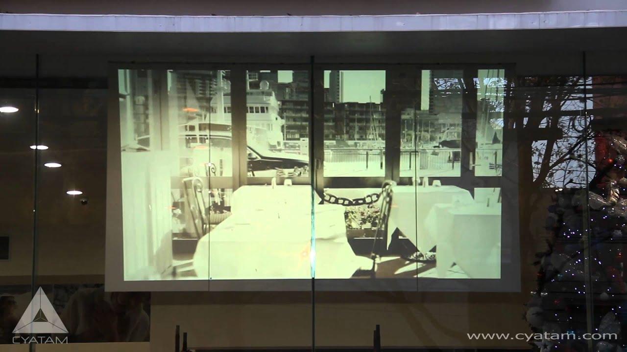 Proyeccion Sobre Proyección Sobre Vidrio