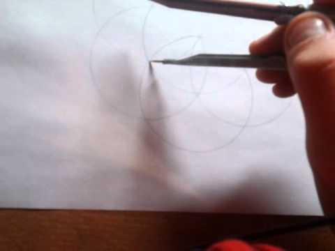 Видео как нарисовать цветок циркулем