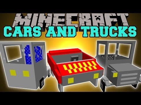 Minecraft: CARS AND TRUCKS MOD (FERRARI, CLASSIC CAR, VAN, & MORE!) Mod Showcase