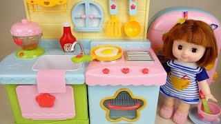 Baby Doll Kitchen and play doh cooking toys play