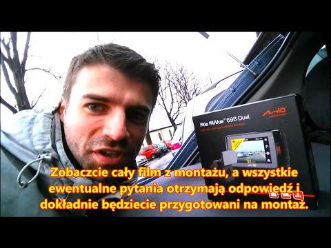 Mio MiVue 698 Dual - Jak Zamontować Wideo Rejestrator w Samochodzie - Poradnik