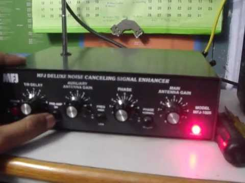 Shortwave Listening - MFJ 1026 Noise canceler cum signal enhancer in operation