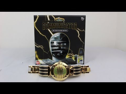 SDCC 2017 Legacy Communicator: Zeo Gold Ranger Edition Unboxing/Review [Power Rangers Zeo]