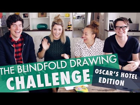 BLINDFOLDED DRAWING CHALLENGE // Grace Helbig