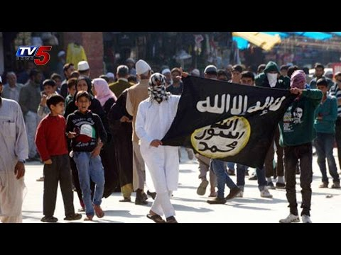 Protesters again Display ISIS Flags in Kashmir Valley : TV5 News