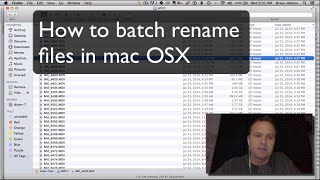 How to batch rename files in mac OSX