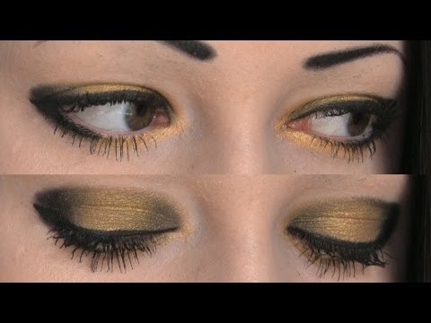 Gold And Black Goth Makeup