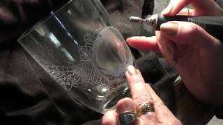 The Dragon and the Fairy .....the engraving on a crystal vase. PART ONE