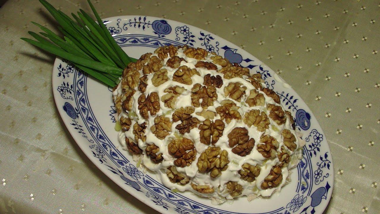 Салат и курицы с ананасами и грибами пошаговый рецепт с