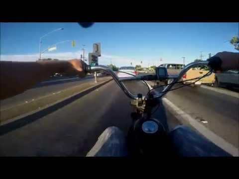 Homemade Motorized Schwinn Stingray 6.5hp Chopper bike