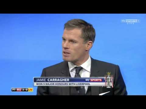 Carragher and  Solskjaer commentary on David De Gea post-match at home versus Liverpool