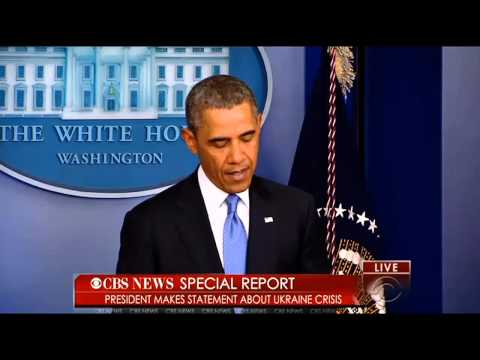 President Obama Makes Statement On Ukraine