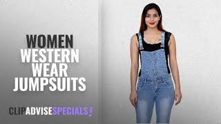 Top 10 Women Western Wear Jumpsuits [2018]: FNocks Women Girls Ladies Slim Fit Denim Casual Dungaree