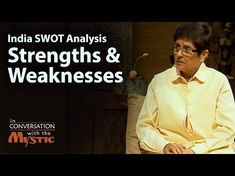 India SWOT Analysis Part 1 - Strengths and Weaknesses - Dr. Kiran Bedi with Sadhguru