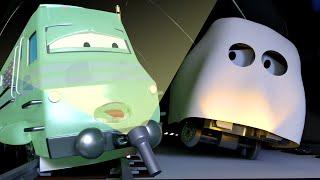 🎃Xe lửa ma🍬 - xe lửa Troy 🚉 những bộ phim hoạt hình về xe tải l Vietnamese Cartoons for Kids