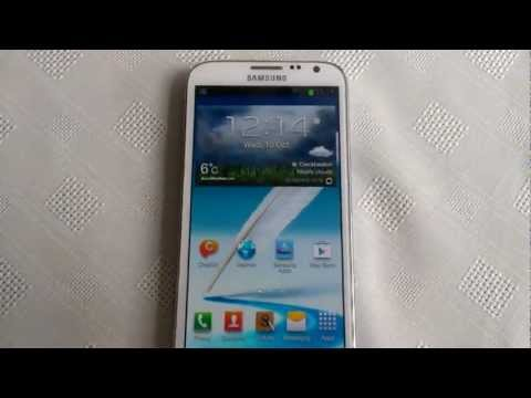 Samsung Galaxy Note 2 (Blocking Mode Demo)
