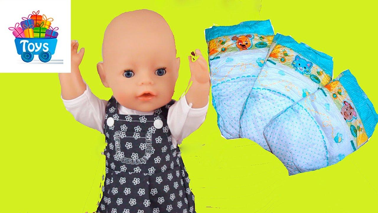 Как сделать куклу беби из памперсов