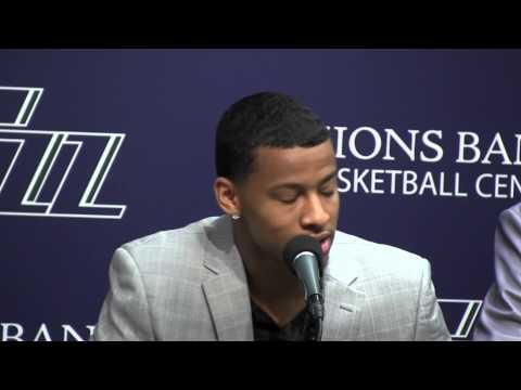 Utah Jazz draft pick Trey Burke meets with Salt Lake media