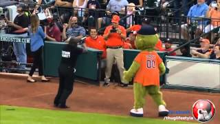 Mascot vs Security Thug life