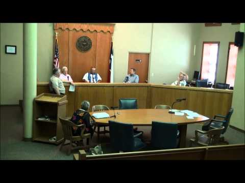 Titus County Texas Commissioners' Court held on July 6, 2015