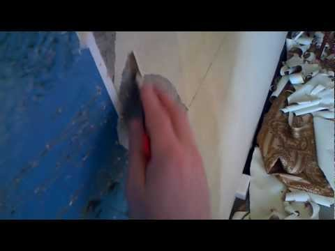 Видео как снять флизелиновые обои