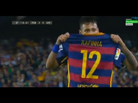 Neymar Dedicated His Goal to Rafinha (Celebration) | Barcelona vs Levante