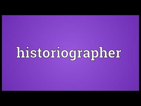 Header of historiographer