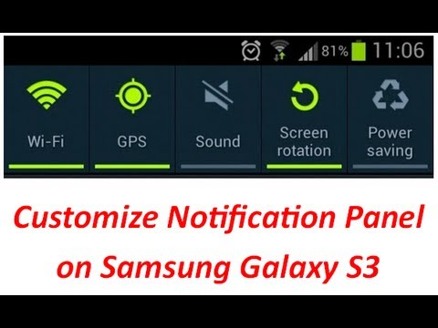 Samsung Galaxy S3 Notification Bar Customization