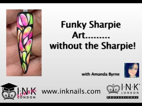 Funky Sharpie Nail art.... Without the Sharpie!