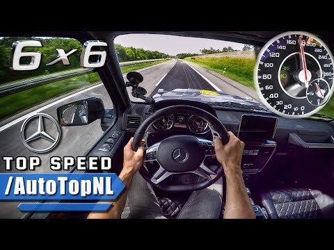 MERCEDES G63 AMG 6X6 AUTOBAHN POV ACCELERATION & TOP SPEED by AutoTopNL