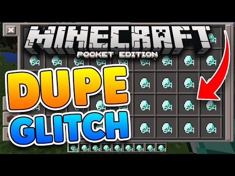 MCPE 1.0.9 DUPLICATION GLITCH!! UNLIMITED Diamonds & Items! Minecraft Pocket Edition