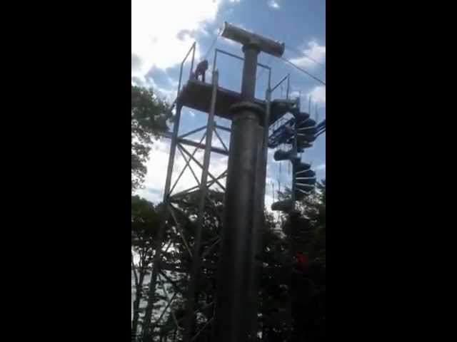 Thunderbird Twin Zip Line Construction #10