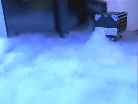 Дым машина на сухом льду - YouTube