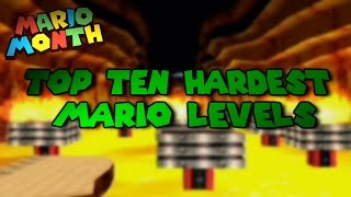 Top Ten Hardest Mario Levels