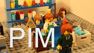 Lego Pim in barber shop