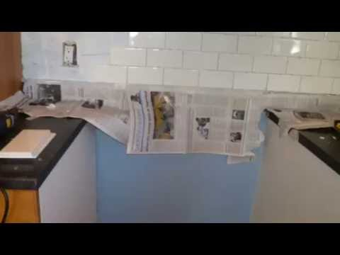 installing subway tile backsplash youtube