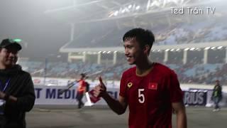 Không khí tuyệt vời tại sân Mỹ Đình sau trận đại thắng U23 Thái Lan của thầy trò HLV Park Hang-seo