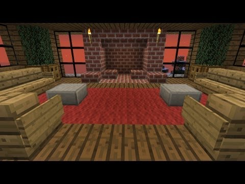 Hard-Core Minecraft:  How to Build Furniture and a Fireplace  (part 6)
