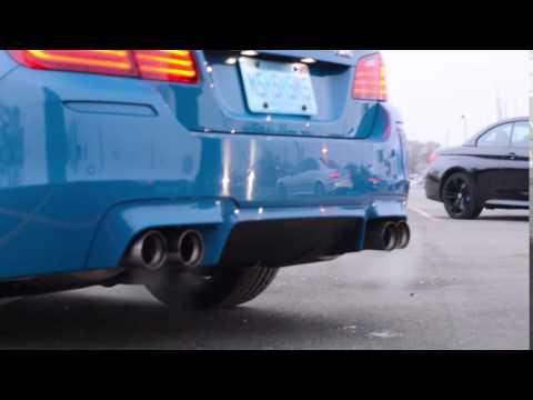 Laguna Seca Blue BMW M5 Revving
