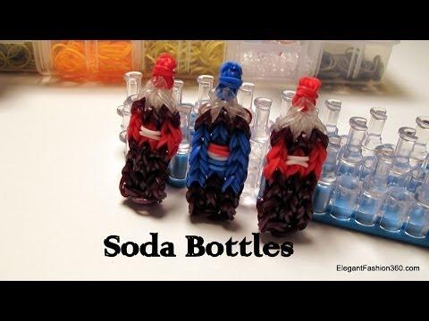 Coca Cola Soda Bottle Charm - How to Rainbow Loom -Food Series