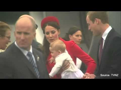 Prince William, Kate and Prince George arrive in New Zealand