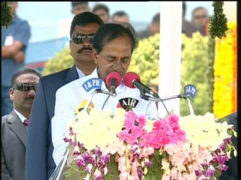 CM KCR Speech on 2nd  Telangana Formation Day at Parade Grounds