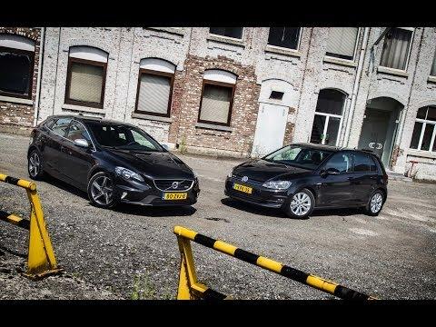 VW Golf 1.6 TDI Bluemotion vs. Volvo V40 D2 - YouTube