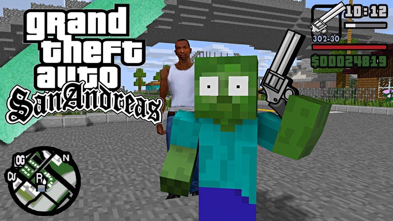 Monster School : GTA SAN ANDREAS CJ BECOME TEACHER - Minecraft Animation